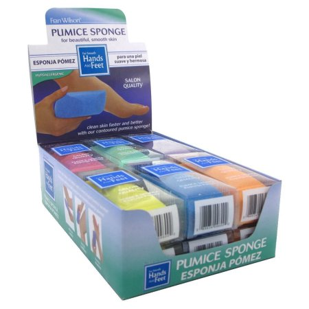 FRAN WILSON Hands & Feet Pumice Sponge Assorted Colors (1-Pack) - ADDROS.COM