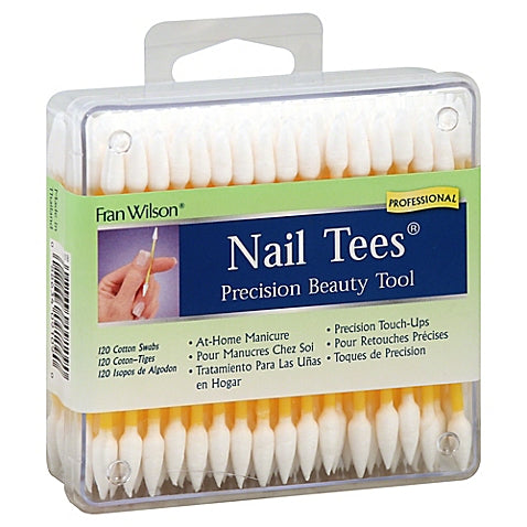 FRAN WILSON Nail Tees Precision Beauty Tool 120-Count Cotton Swabs