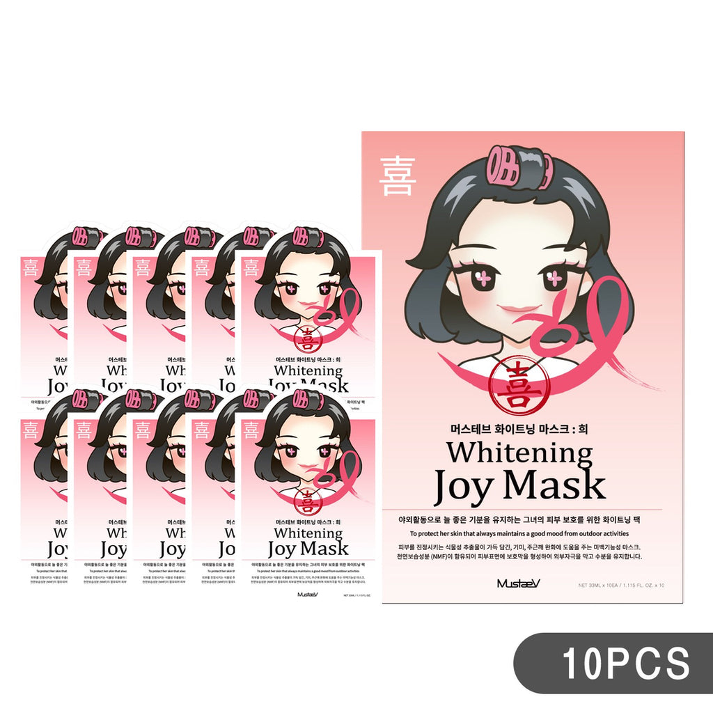 MustaeV - Mood Therapy Mask - Whitening Joy (10 Pack) - ADDROS.COM