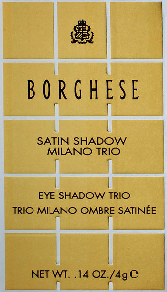 BORGHESE - Satin Shadow Milano Trio, 04 Splend'Oro Green
