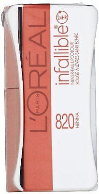 L'OREAL Infallible Never Fail Stars Collection Lipcolour, 820 Henna