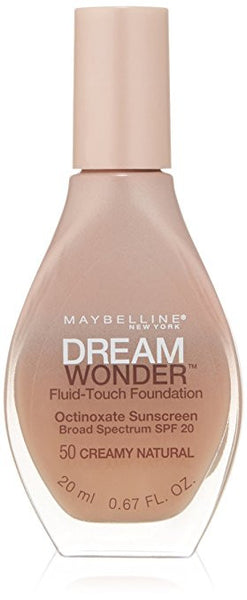 Maybelline Dream Wonder Fluid-Touch Foundation, Creamy Natural 50