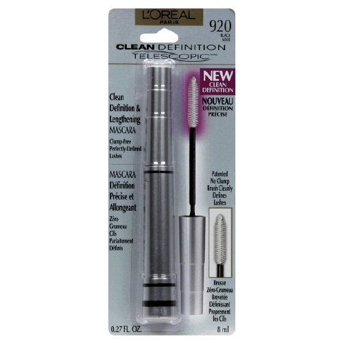 L'OREAL Telescopic Clean Definition & Lengthening Mascara - Black 920 - ADDROS.COM