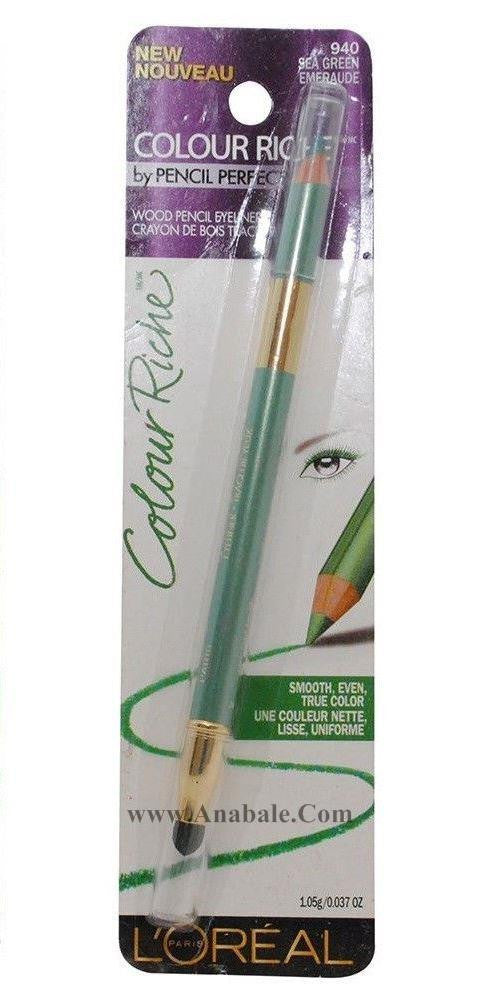 L'Oreal Colour Riche Wood Pencil Eyeliner, Sea Green 940