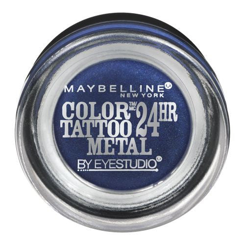 Maybelline Color Tattoo Metal Eyeshadow, Electric Blue 75 - ADDROS.COM