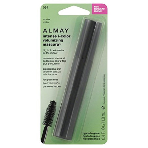 ALMAY Intense I-Color Volumizing Mascara For Green Eyes, Mocha (034)