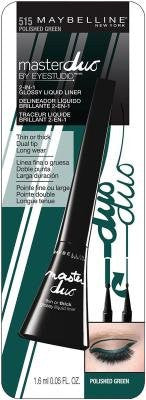 Maybelline New York Eye Studio Master Duo Glossy Liquid Liner, 515 Polished Green - ADDROS.COM