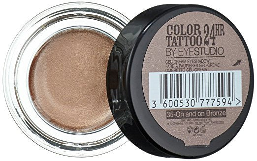Maybelline Color Tattoo 24 HR Eyeshadow - On and On Bronze 35 - ADDROS.COM