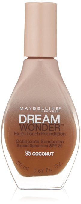Maybelline Dream Wonder Fluid-Touch Foundation, Coconut 95 - ADDROS.COM