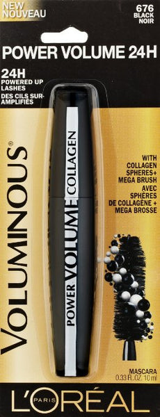 L'Oreal Paris Voluminous Power Volume 24H Mascara, 676 Black - ADDROS.COM