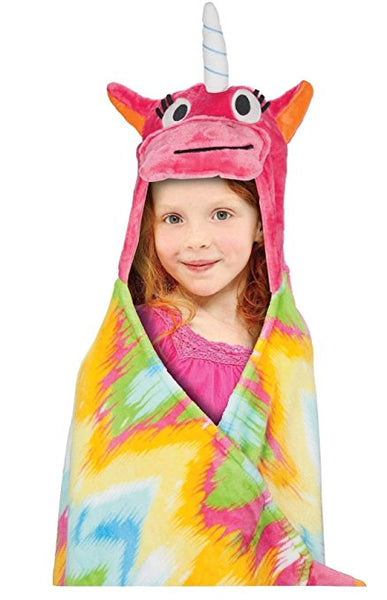 BEST BRANDS Kids Hooded Throw, Unicorn - 1-Piece
