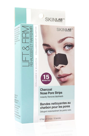 SKINLAB Charcoal Nose Pore Strips (6 Strips)