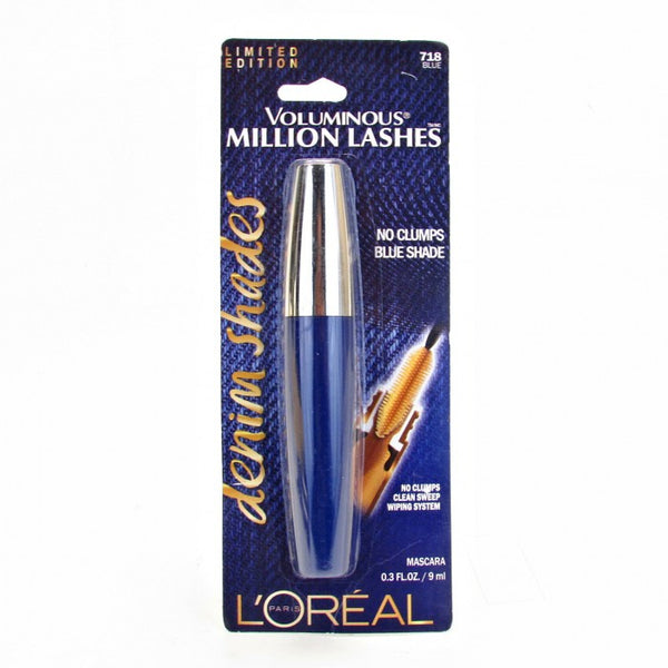L'OREAL PARIS Voluminous Million Lashes Denim Shades Mascara (Limited Edition) - 718 Blue