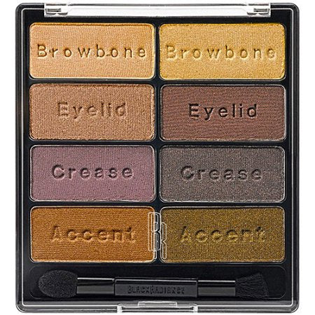 Black Radiance 8 Palette Eyeshadow Downtown Browns & Mascara Instant Eye Appeal 8026