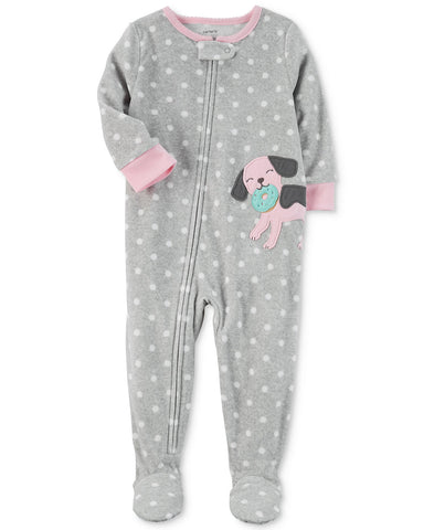 Carter's Dog Dot-Print Footed Pajamas, Baby Girls (12M-5T)  1-Piece - ADDROS.COM