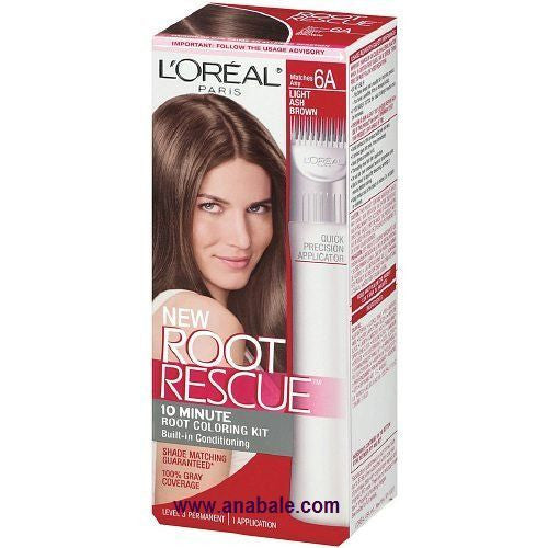 L'OREAL Paris Root Rescue Hair Color, 6A Light Ash Brown - ADDROS.COM