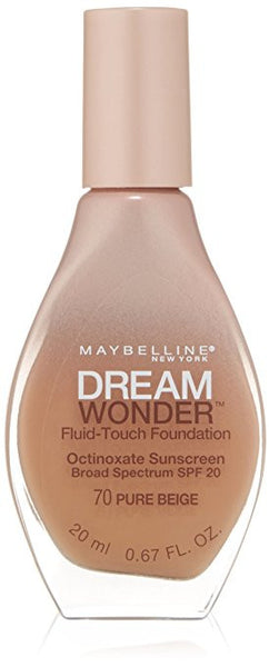 Maybelline Dream Wonder Fluid-Touch Foundation, Pure Beige 70 - ADDROS.COM