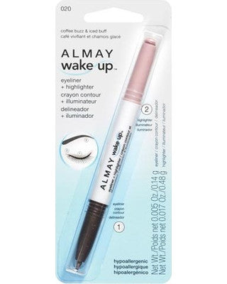 ALMAY Wake Up Eyeliner and Highlighter, Coffee Buzz/Iced Buff 020