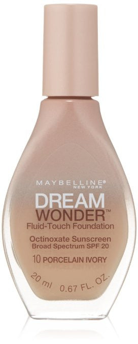 Maybelline Dream Wonder Fluid-Touch Foundation, Porcelain Ivory 10 - ADDROS.COM