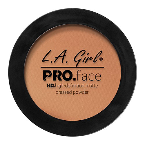 L.A. GIRL Pro Face HD High Definition Matte Pressed Powder Warm Caramel, 0.25 oz (7g) - ADDROS.COM