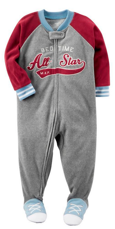 Carter's All-Star Footed Pajamas, Baby Boys (6M-5T)  1-Piece