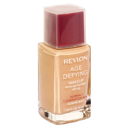 REVLON Age Defying Makeup with Botafirm, SPF 20, Normal/Combination Skin, Bare Buff 02, 1.25-Ounce - ADDROS.COM