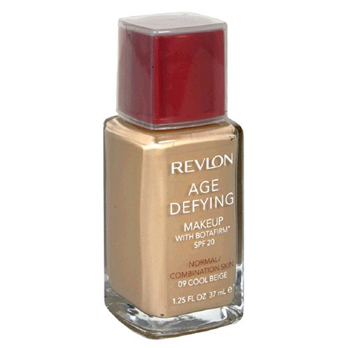 Revlon Age Defying Makeup with Botafirm, SPF 15, Dry Skin, Cool Beige 09, 10.25 Fluid Ounces (37 ml) - ADDROS.COM