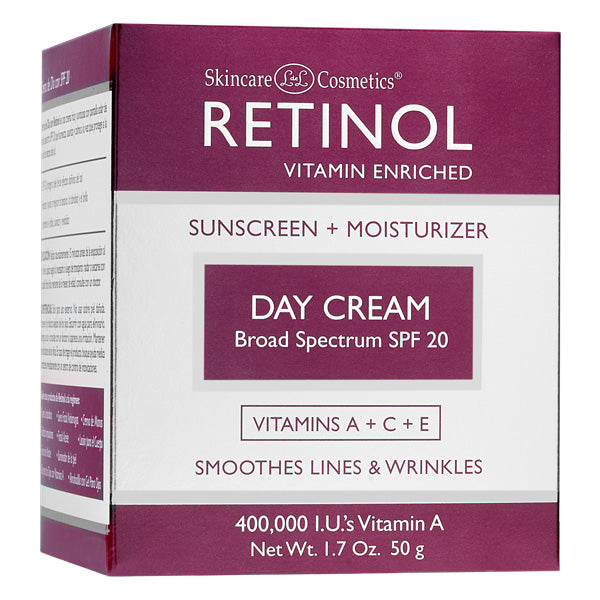 RETINOL Day Cream Broad Spectrum, SPF 20, 1.7 Oz (50g) - ADDROS.COM