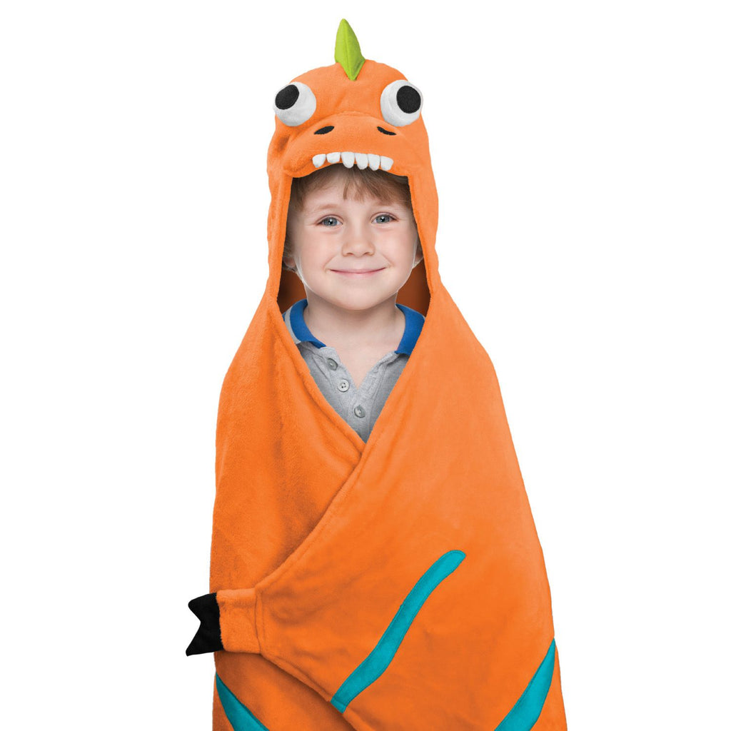 BEST BRANDS Kids Hooded Throw, Dinosaur  - 1-Piece - ADDROS.COM