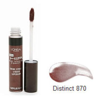 L'OREAL HIP Shine Struck Liquid Lipcolor, 870 Distinct - ADDROS.COM