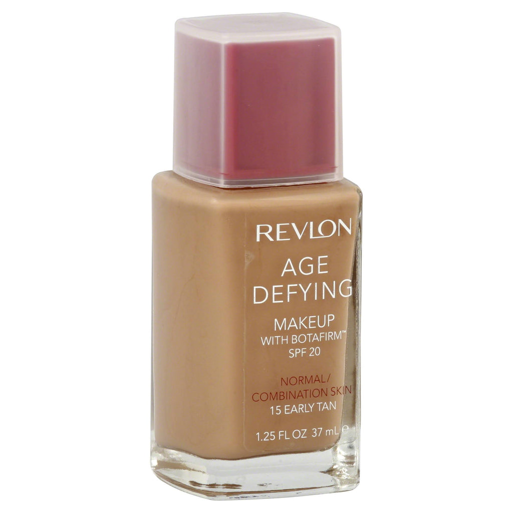 REVLON Age Defying Makeup with Botafirm, SPF 20, Normal/Combination Skin, Early Tan 15, 1.25-Ounce - ADDROS.COM