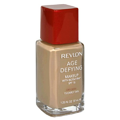 Revlon Age Defying Makeup with Botafirm, SPF 15, Dry Skin, Early Tan 15, 10.25 Fluid Ounces (37 ml) - ADDROS.COM