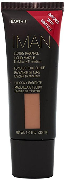 IMAN COSMETICS Luxury Radiance Liquid Makeup, Earth 3