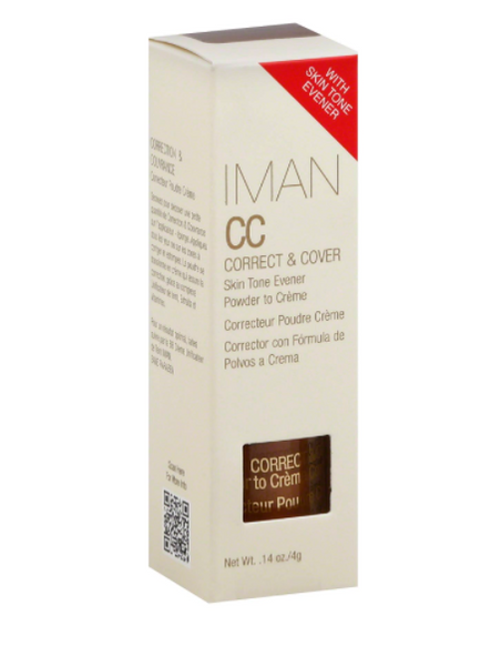 IMAN CC Correct & Cover Powder to Creme Concealer - Earth Medium