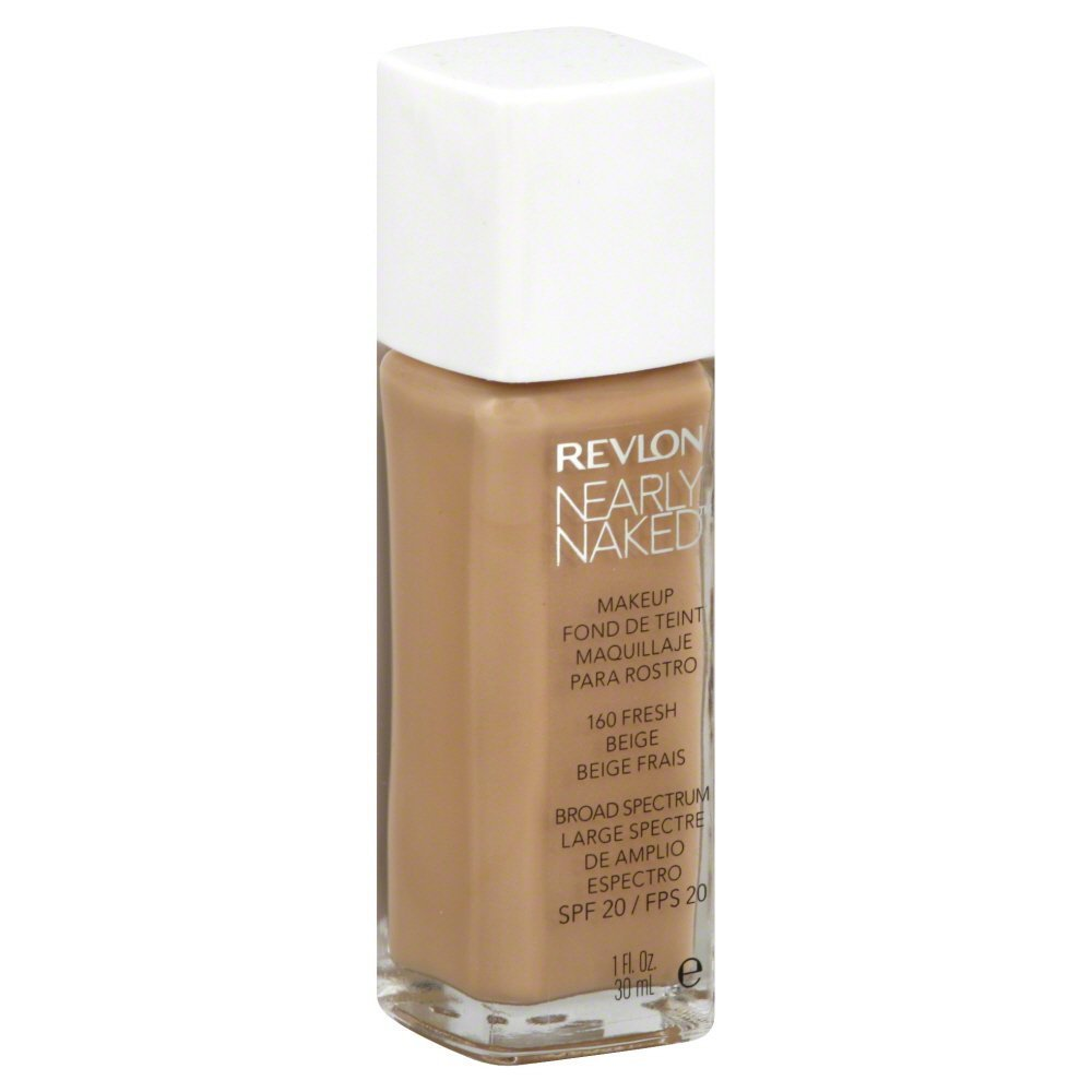 REVLON Nearly Naked Liquid Makeup Broad Spectrum - Nude 150 - ADDROS.COM