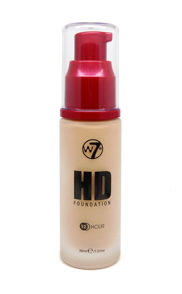 W7 COSMETICS High Definition (12 Hour) Foundation - 1.05 Fl Oz (30 ml) - ADDROS.COM