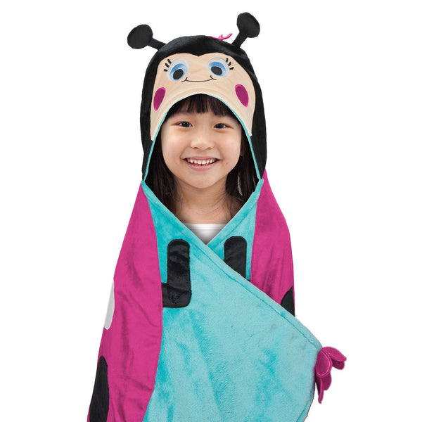 BEST BRANDS Kids Hooded Throw, Lady Bug - 1-Piece - ADDROS.COM