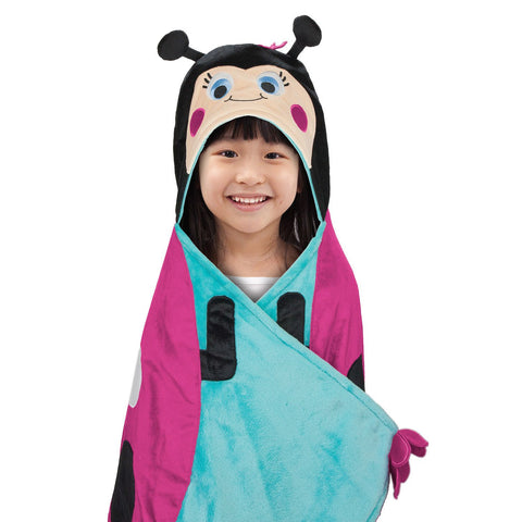 BEST BRANDS Kids Hooded Throw, Lady Bug - 1-Piece