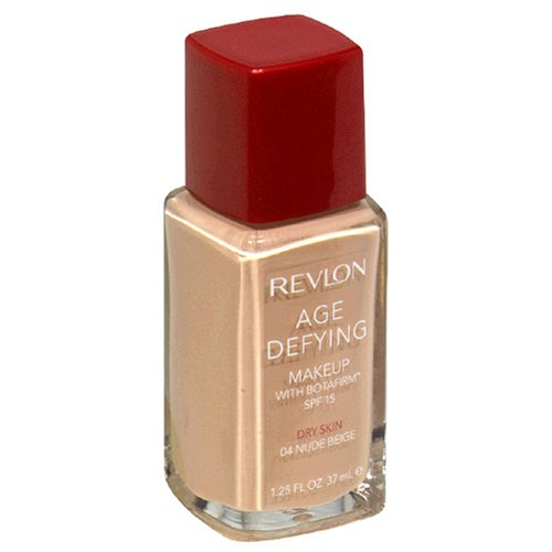 Revlon Age Defying Makeup with Botafirm, SPF 15, Dry Skin, Nude Beige 04, 10.25 Fluid Ounces (37 ml) - ADDROS.COM
