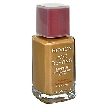 REVLON Age Defying Makeup with Botafirm, SPF 20, Normal/Combination Skin, Rich Tan 17, 1.25-Ounce - ADDROS.COM