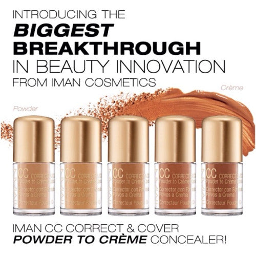 IMAN CC Correct & Cover Powder to Creme Concealer - Clay Medium Deep