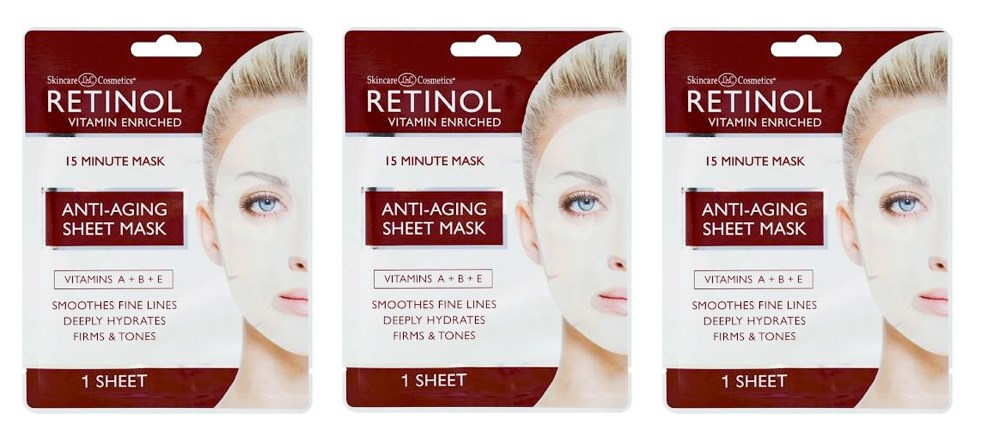 RETINOL Anti-Aging Sheet Mask - (3 Sheet) - ADDROS.COM