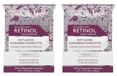 RETINOL Anti-Aging Cleansing Towelettes (2-PACK) - ADDROS.COM