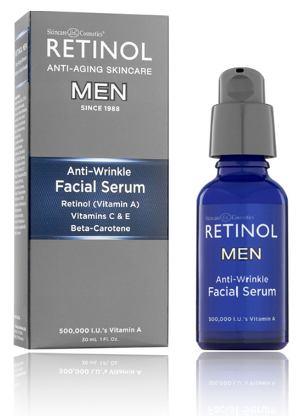 RETINOL Anti Wrinkle Facial Serum - for Men, 1 fl Oz (30ml) - ADDROS.COM