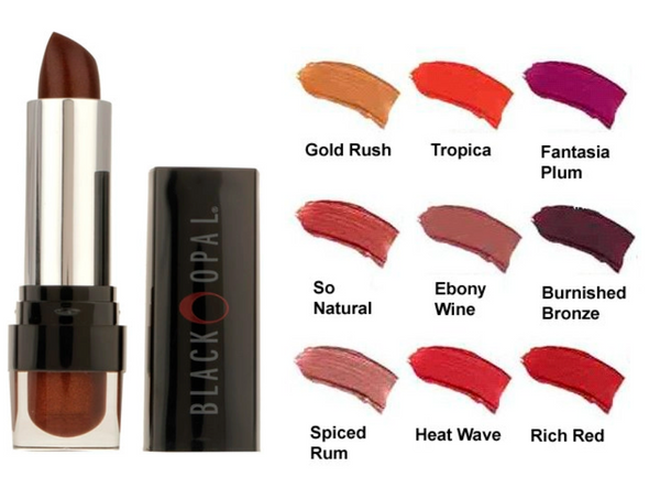 BLACK OPAL True Color Lipstick, Ebony Wine, 0.12 oz
