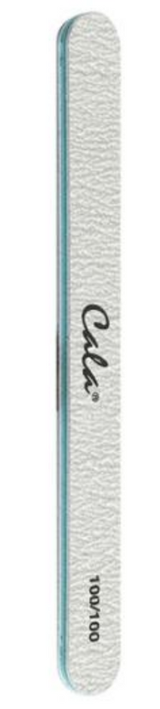 CALA Zebra Nail File Grit 100/100, Green Center (70132)