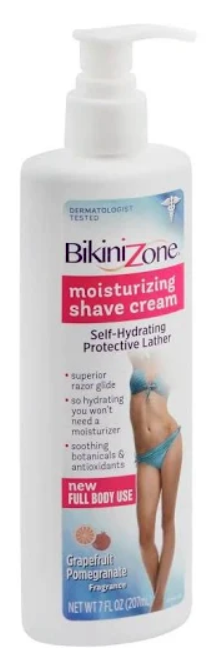 Bikini Zone Moisturizing Shave Cream Grapefruit Pomegrante