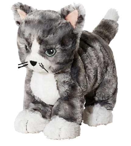 LILLEPLUTT Soft toy, cat gray, white - ADDROS.COM