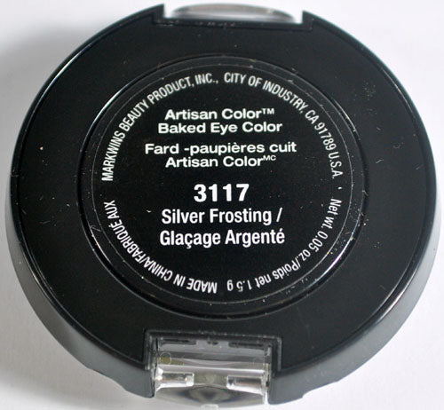 Black Radiance Artisan Color Baked Eye Shadow Trio - 3117 Silver Frosting, 0.05 oz.