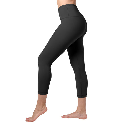 90 Degree by Reflex Girls High Waist Capri, Black ADDROS.COM